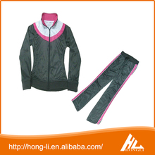 OEM design high quality 100% cotton ladies velour tracksuits