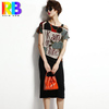 European new summer women's silk dress fashion street simply silk dresses