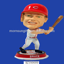 Decoretive Popular Sport Sculpture Custom Baseball Bobblehead