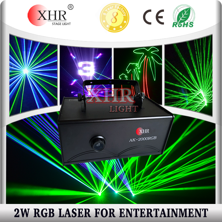 Indoor Mini Party 2000mw 2W Christmas DJ Party Laser Lights Show Machine