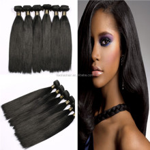 100% human brazilian hair extension virgin hair fiber