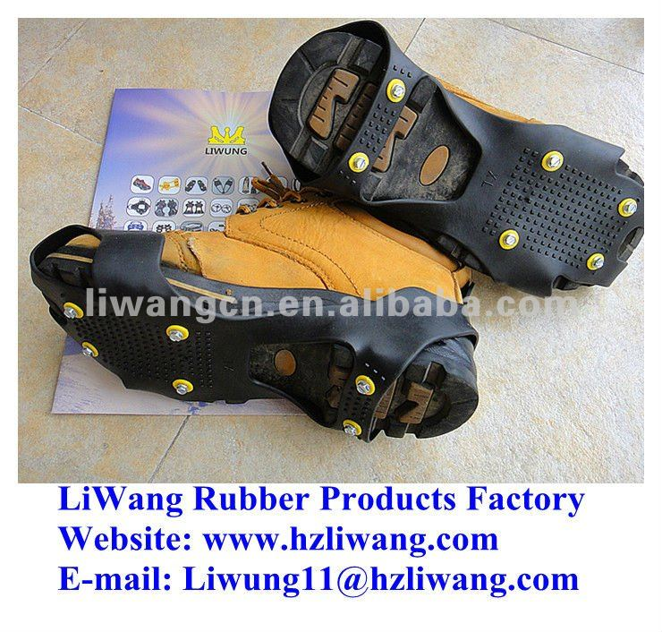 Anti slip/non-slip colored spikes, heel cleats, climbing crampons, shoe grabbers easy & lighting screw grippers for ice & snow