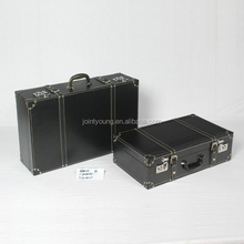 faux leather vintage suitcase trunks set of two