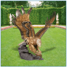 Garden Cast Bronze Owl Sculpture for home decoration