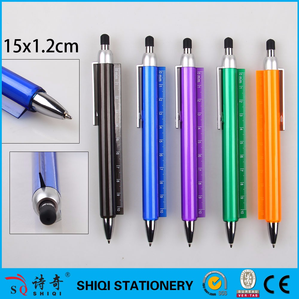 2017 Multifunction Touch Screen Stylus Ball Pen with Ruler