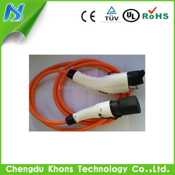 32a ev cable connector for electric car charging station sae j1772 type1 to 62196 type2 ev charging cable