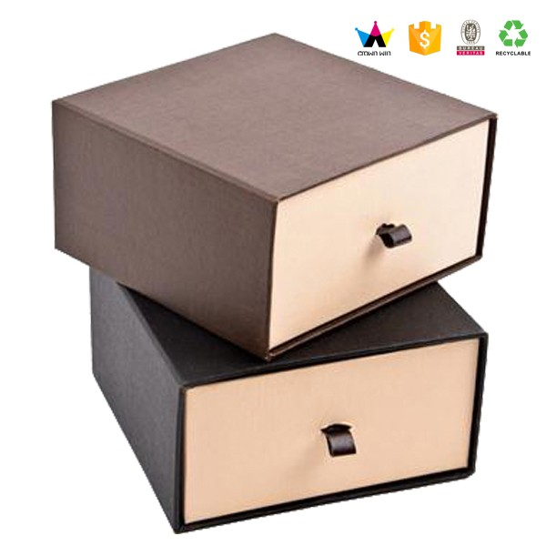 2017 Elegant Custom Sliding Cardboard Drawer Packaging Box