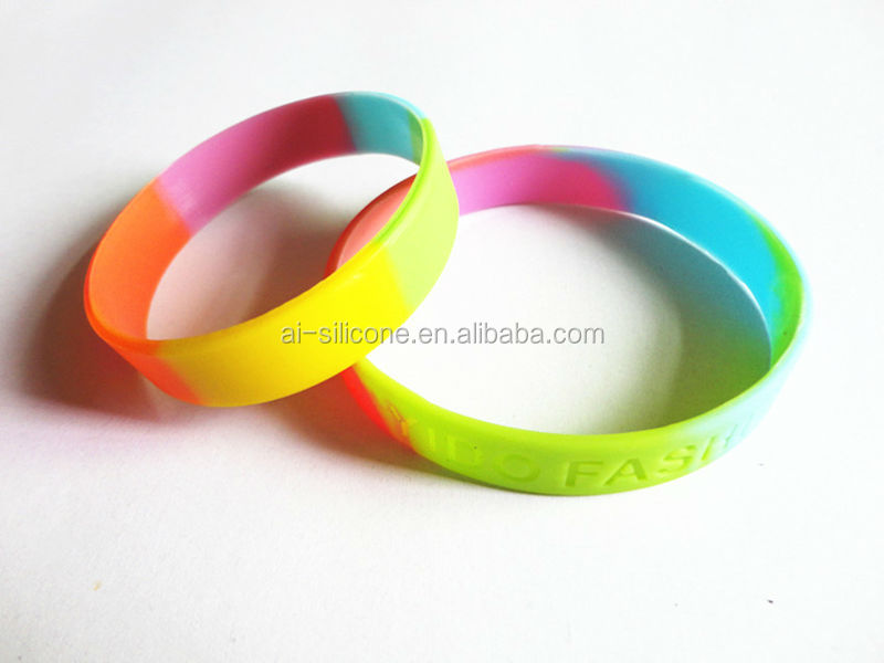 Silicone Jewelry Charm Bracelets rainbow loom rubber bands ,silicone bracelet