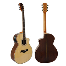Aiersi Brand SolidWood Cheap Handmade Electrical Acoustic Guitar