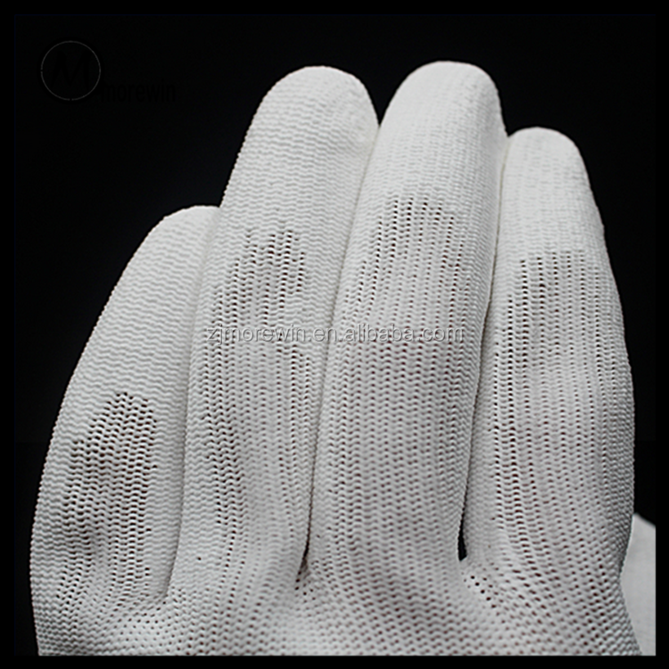 Morewin Brand work protective gloves Labor protection Elastic Breathable wear resistant gloves free size white