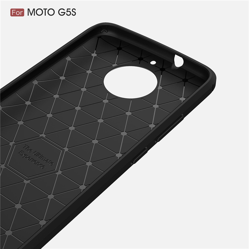 Wholesale Hybrid Carbon Fiber Rugged Armor Silicone Soft Mobile Phone Cover Case for Moto G5S Cell Phone Case for Moto G5S