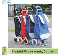 Folding Shopping Trolley Bag with 2 Wheels / Vegetable Shopping Trolley Bag