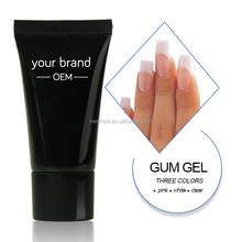 Create your own brand bulk 1kg uv gel 28g nail uv curing builder acrylic gel in tube