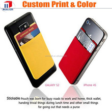 Cutom stretchy lycra 3M sticker adhesive smart wallet for cell phone
