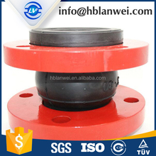 EPDM round rubber bellow joint with flange