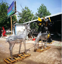 304 large stainless steel deer /sculpture /statue