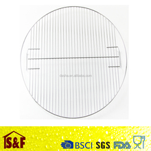 round 50cm 60cm stainless steel barbecue grill grid/round pan grate/carbon baking net