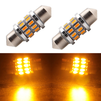 3014 SMD 24 LED Car Interior Dome Light Lamp Festoon warm white Bulb Light Festoon LED Licence Plate Dome Roof Light