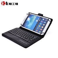 Bluetooth Keyboard Case, Stand PU Leather Keyboard Cover
