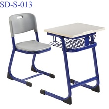SD-S-013 Classroom Plastic Desk And Chair Student, Middle School Cheap Study Table On Sale
