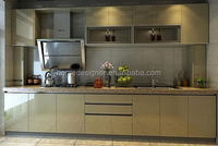 Newest design high gloss plywood kitchen cabinet furniture