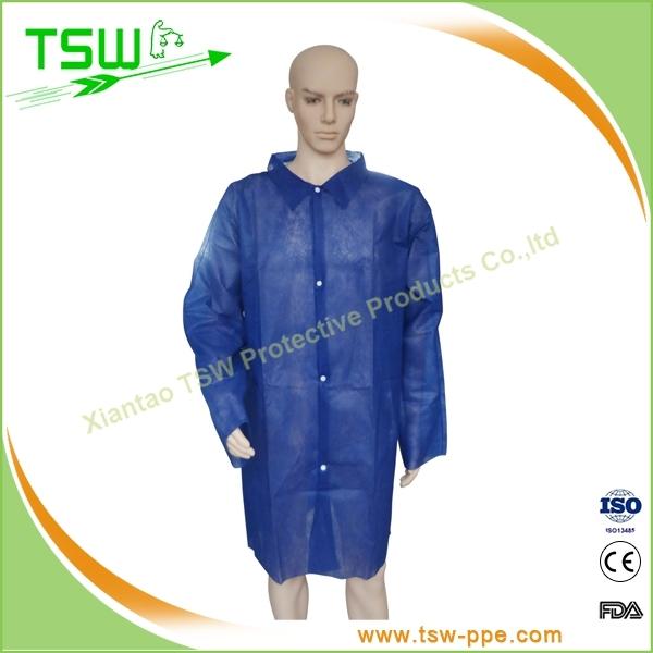 PP green knit cuff and collar womens lab coat,long coat,mans lab coat