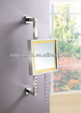 Wall Square Bathroom UL/GS/CE LED mirror with towel rack