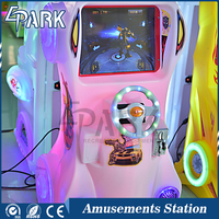 Amusement Racing Game Machine Deformation Car With Light Box