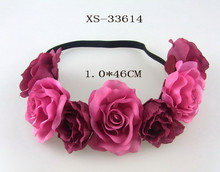 Artificial Flower Head band Rose Flower Crown Headwrap