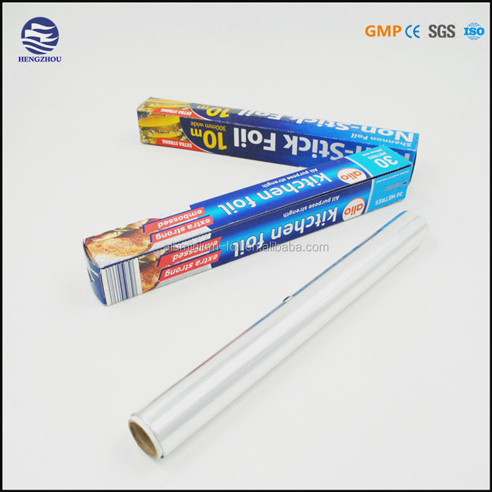 pre cut roll or sheet embossed kitchen aluminium foil for household use(FDA SGS)