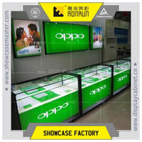 Cell phone showcase,display case mobile store,cheap phone cases