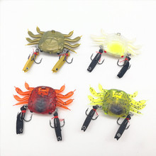 sea fishing lures soft platic crab lure metal jig