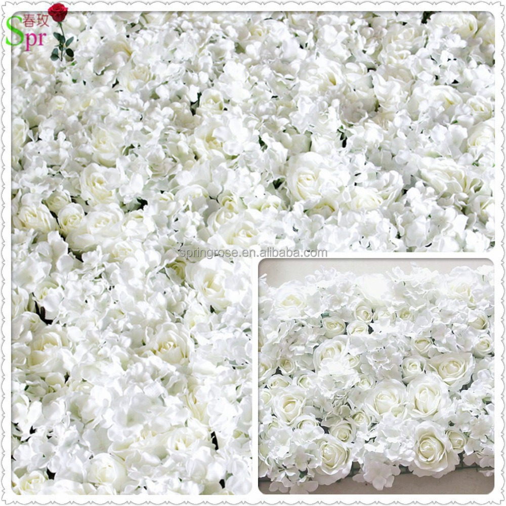 Good Quality Hot Sales Ivory Artificial Flowers Wall Backdrop