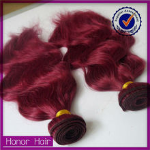 Exclusive! wholesale natural wave high quality cheap human hair 3 bundles red brazilian hair weave