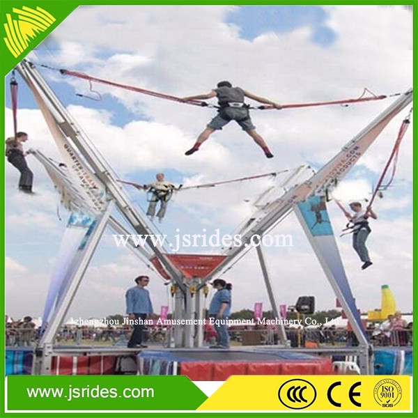 Exciting games outdoor amusement equipment kids bungee trampoline