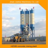china new electric compact 50m3/h mobile concrete mixing plant