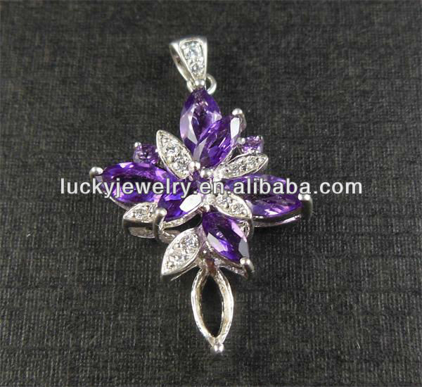 artificial jewellery purple pendants