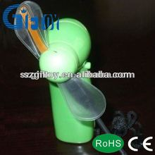 plastic battery operated mini toy fan