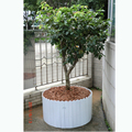 Wood-plastic Composite WPC White Round flower pot