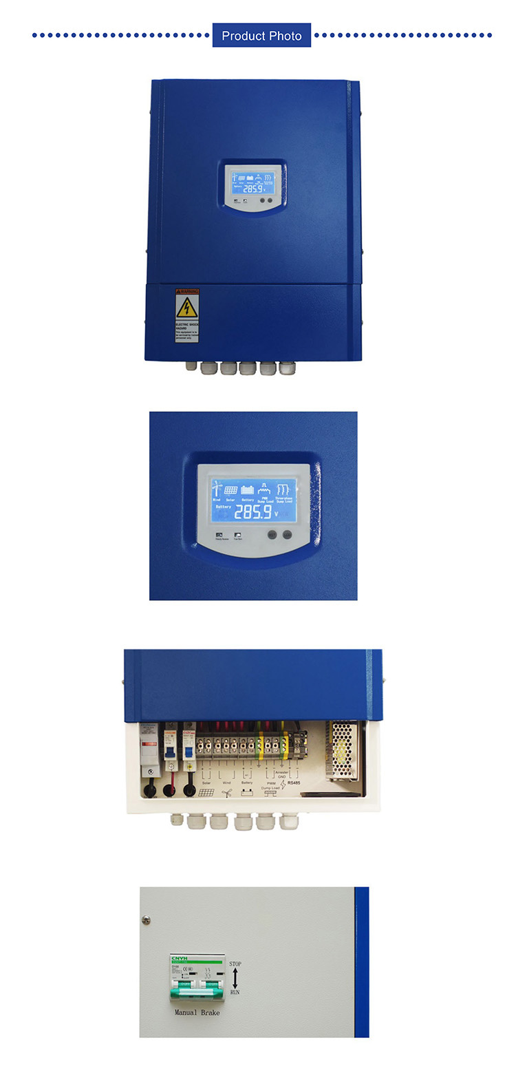 Deming Wind turbine on grid and battery charge integrated controller 5KW