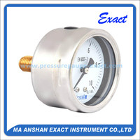 High Quality Back Mount Fuel Oil Pressure Gauge