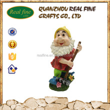 Famous Resin Seven Dwarf Statue Gnome Figures for Garden Decoration Ornament