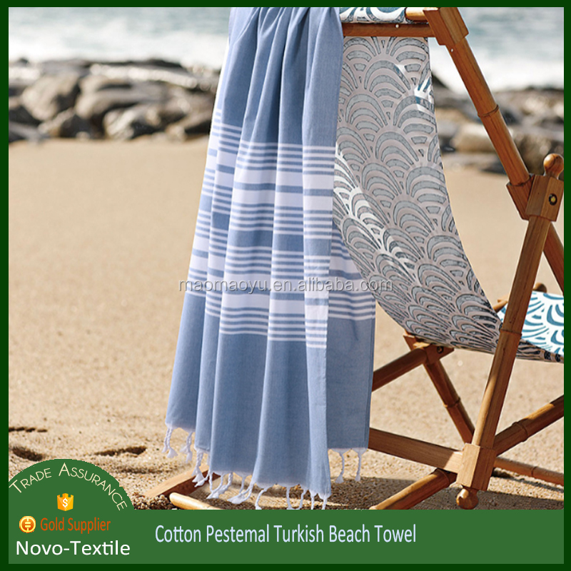 2016 hot sales light weight portable 100% cotton turkish beach towel