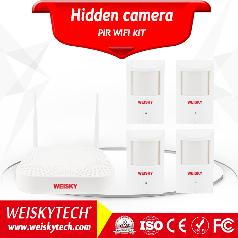 Weisky 2017 the popular wireless mini hidden pir ip camera KIT