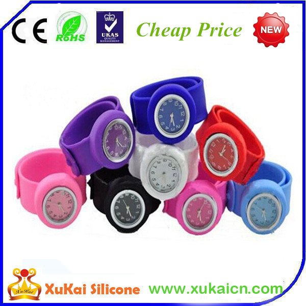 silicone colorful watch band for women's