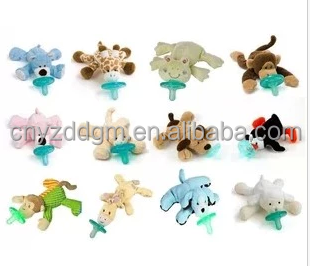 Baby plush Animal Pacifier toys/Stuffed Animal Pacifier Toys Plush Toy Manufacturer