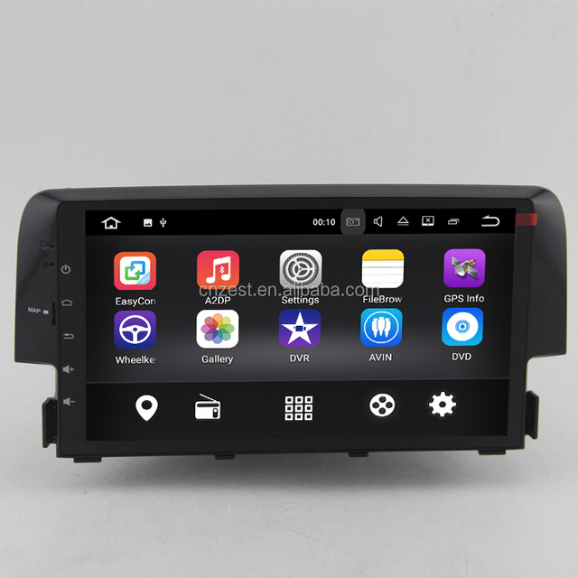 android car dvd for honda civic 2016 2017 with gps radio audio multimedia system