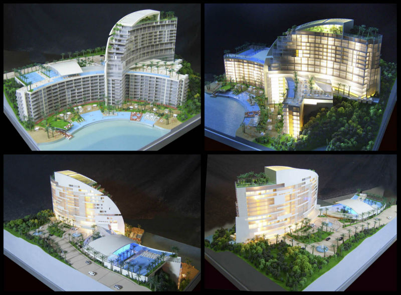 residential building planning model making/ custom-made architectural model making