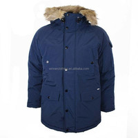 2014 top quality wind proof mens parka winter jacket with fur hood