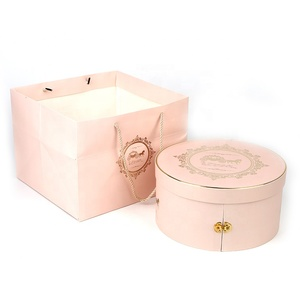 Custom design elegant Second floor drawer craft product Round packaging paper box